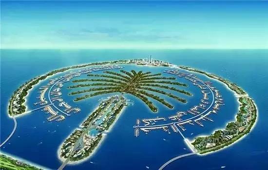 建造了世界最大的人工岛:朱美拉棕榈岛